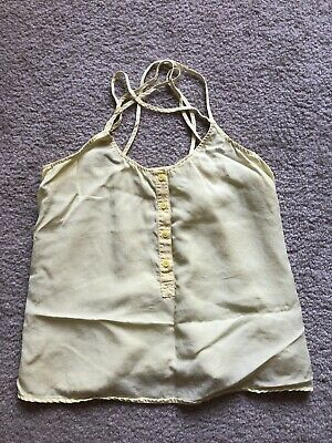 $ CDN13.59 • Buy Cloth & Stone Anthropologie Size Small Yellow Strappy Tank Top
