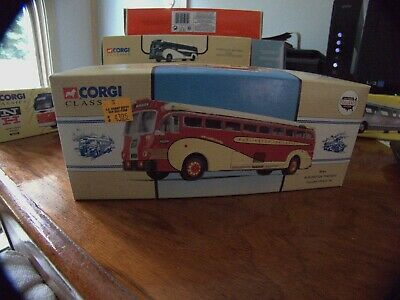 $19.99 • Buy Corgi Classics 98464 Burlington Trailways Yellow Coach 743 Diecast Bus Model