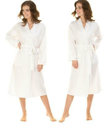 Women's Ladies Robe Dressing Gown Jersey Cotton Polka Dot Design  By La Marquise • 18.99£