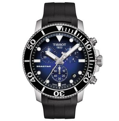 New Tissot T120.417.17.041.00 Seastar 1000 Blue Dial Mens Chronograph Watch • 325£