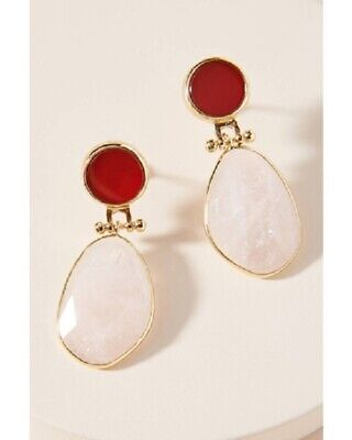 $ CDN41.95 • Buy ANthropologie Kyla Drop Earrings- Red, Blue, Or White