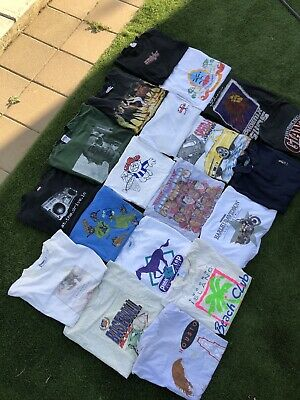 $ CDN108.62 • Buy Vintage 90s 19 T Shirt Lot Bundle Wholesale Size S-XL Single Stitch