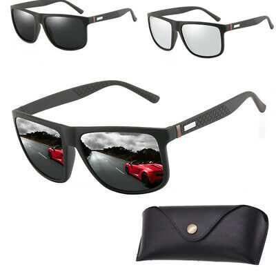 AU16.69 • Buy Mens Outdoor Polarized Sunglasses Sport Oversize Eyewear Driving Glasses Case