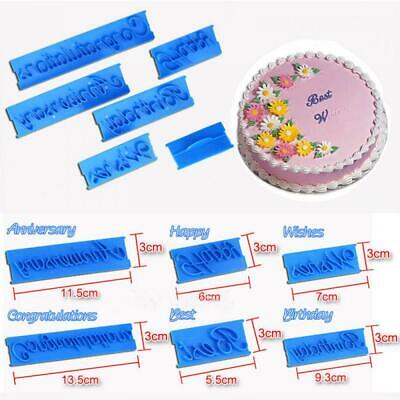 Icing Fondant Cutter Letter Sugarcraft Mould Cake Mold Happy Birthday • 3.05£