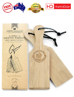 AU23.01 • Buy Butter Paddles And Gnocchi Board - Set Of 2 Sustainable Wooden Makers To Mold