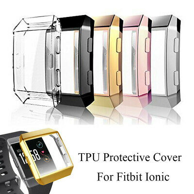 $ CDN6.29 • Buy Cover Protective Case Screen Protector Watch Frame TPU Shell For Fitbit Ionic