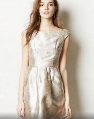 $ CDN49 • Buy Anthropologie Pirouette Dress Size S Silver Skater Made In San Fransisco