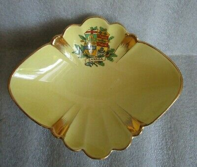 $ CDN16.13 • Buy ROYAL WINTON Grimwades YELLOW BONBON Candy Dish Gold Gilt Canadian Crested Ware!