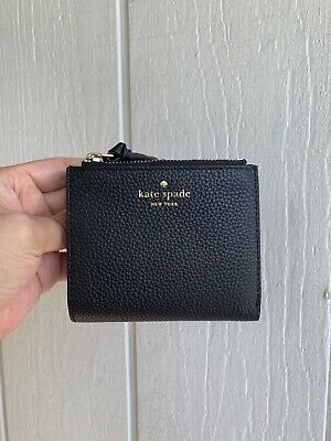 $ CDN52.71 • Buy NWT Kate Spade Small Malea Mulberry Street Leather Wallet Black WLRU3075