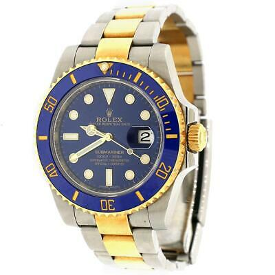 $ CDN18540.90 • Buy Rolex Submariner 2-Tone Blue Ceramic Bezel & Dial Oyster Watch Box Papers