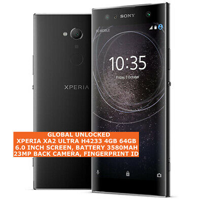 AU490.99 • Buy SONY XPERIA XA2 ULTRA H4233 4gb 64gb 23mp Fingerprint 6.0  Android 4g Smartphone