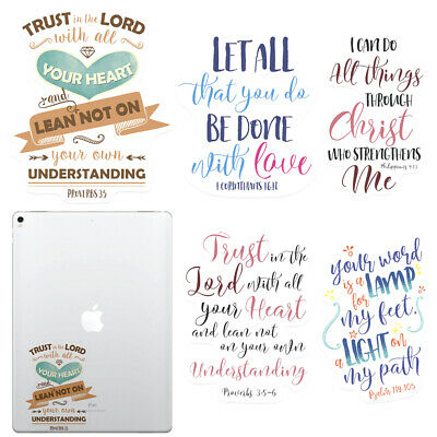 $6.99 • Buy Quotes Design Decal Stickers For Apple IPad Tablet / Macbook Pro Air 13  15  17