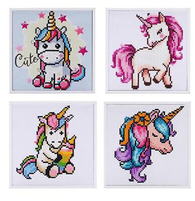 AU24.95 • Buy Unicorn Diamond Painting With Frame - Partial Drill