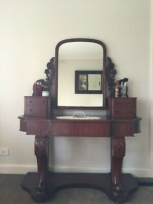 AU199 • Buy Beautiful Antique Victorian Cedar Dressing Table / Hall Stand!