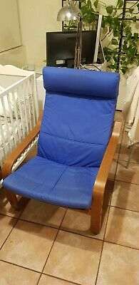 AU0.99 • Buy Ikea Poang Chair With Blue Cushion