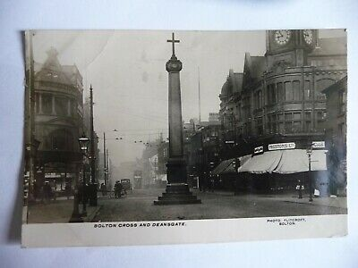 £4.50 • Buy Early Real Photo Postcard Bolton Cross & Deansgate By Flitcroft