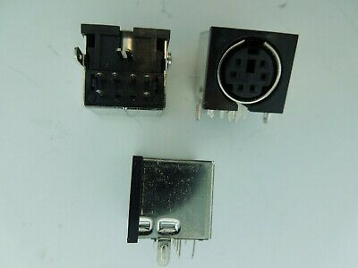 $7.50 • Buy 6 Pin Mini Din Female Connector PS2 Mouse/Keyboard PCB Solder Mount 3 Pcs