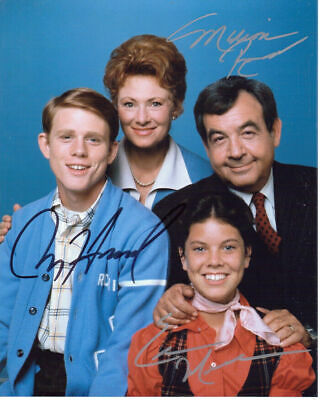 $289 • Buy Authentic Ron Howard Marion Ross Erin Moran Happy Days Signed 8X10 Photo COA
