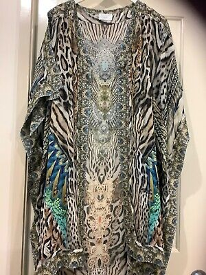 AU325 • Buy Camilla Long Overlay Cape  Animal Print One Size Warrior Wanderlust