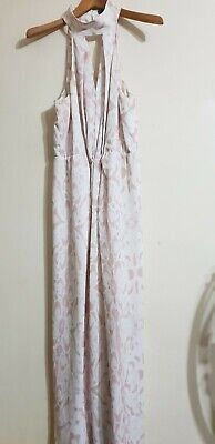 AU19.95 • Buy Sheike Blooming High Neck Pink And White Maxi Dress Size 14
