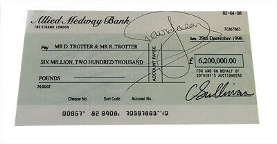 £99.99 • Buy Only Fools And Horses Copy Prop Millionaires Cheque SIGNED BY DAVID JASON