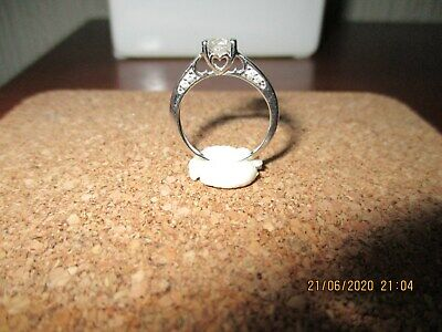 18ct White Gold Diamond Solitaire Ring 0.33ct, Size K • 250£