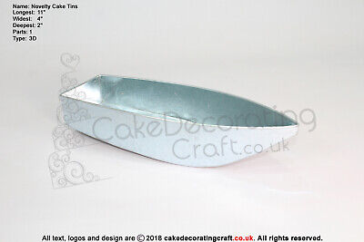 3D Novelty Cake Baking Tins And Pans | Fishing Boat Cake Shape  • 5.99£