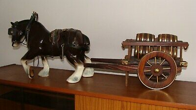 Porcelain Shire Horse Plus Barrel Cart In Very Good Condition (deli Free 30mile • 30£