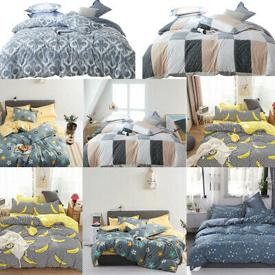 £28.50 • Buy Duvet Cover Printed Quilt Comforter Bedding Set Pillowcase Twin Queen King Size