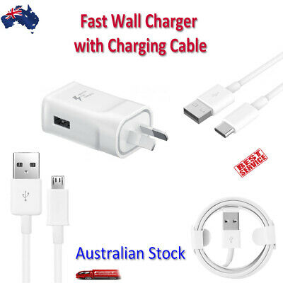 AU14.99 • Buy Wall Charger Travel Adapter 2.0A With Cable For Samsung Apple And Other Devices