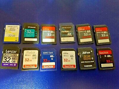 $19.99 • Buy HUGE Used SD Card Lot 32GB - 12 Cards