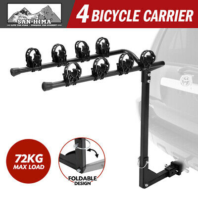 AU69.95 • Buy 4 Bicycle Carrier Car Rear Bike Rack 2  Towbar Hitch Mount Steel Foldable