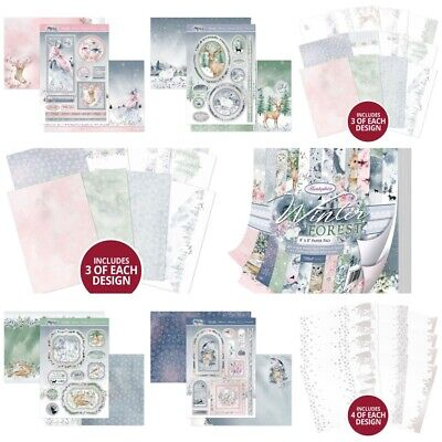 Hunkydory Crafts Winter Forest Collection - Toppers - Pad - Card Kit - Acetate - • 4.49£