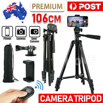 AU29.85 • Buy Professional Camera Tripod Stand Mount Remote + Phone Holder For IPhone Samsung