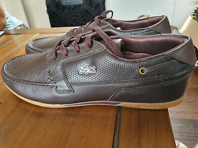 Lacoste Dreyfus SPM Brown Mens Leather Shoes UK 11 / EUR 46 • 50£
