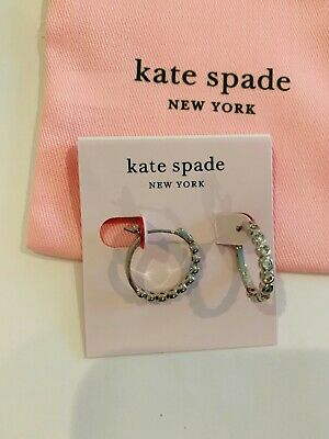 $ CDN29.07 • Buy Kate Spade New York Full Circle Huggie Earrings In Silver/Clear, Bezel Set