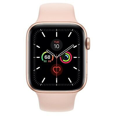$ CDN567.05 • Buy Apple Watch Series 5 44mm Gold-Tone Aluminium Case With Pink Sand Sport Band