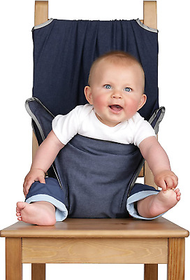 Totseat The Washable Squashable Highchair Denim Blue • 31.26£