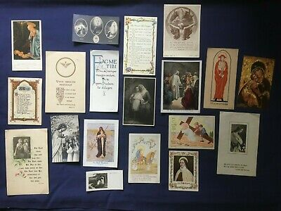 38 X Vintage Prayer Cards Holy Pictures From The 1930s & '40s Catholic, LOT 3 • 5.50£