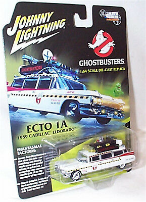 Ghostbusters Ecto-1A Diecast Collectable 1:64 Car Cadillac 1959 NEW JLSS004 • 14.95£