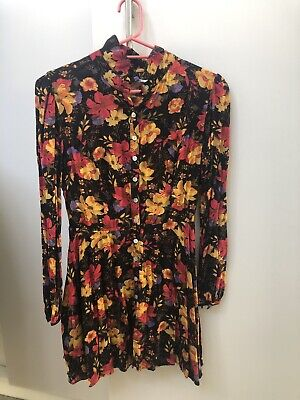 AU10 • Buy Kimchi Blue Urban Outfitters Floral Long Sleeve Vintage Dress Size Large