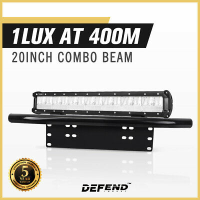 AU49.95 • Buy DEFEND INDUST 20inch Cree LED Light Bar Combo Beam Driving Lamp With Plate Frame