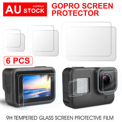 AU13.95 • Buy 6 Packs Tempered Screen Protector Cover Lens For GoPro Hero 8 Camera Accessories