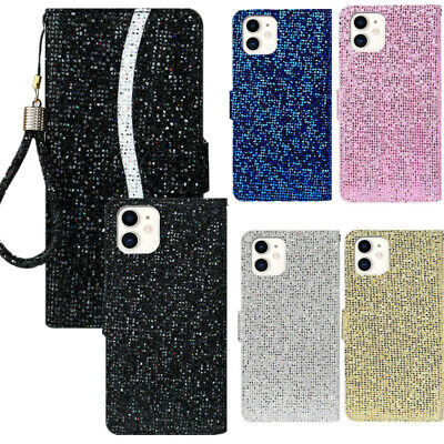 $ CDN7.81 • Buy Luxury Bling Leather Card Slot Wallet Flip Stand Case Cover For Hot Sell Phones
