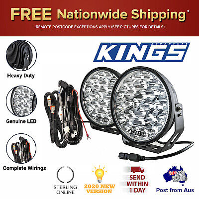 AU168.13 • Buy Kings Xtreme 9  LED Driving Lights Offroad Spot Flood Pair Torch Lux Lumina New