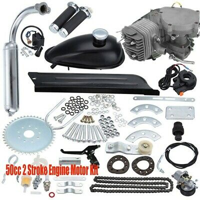 $ CDN263.63 • Buy Silver 50cc 2-Stroke Motor Engine Kit Gas For Motorized Bicycle Bike Cycle DIY
