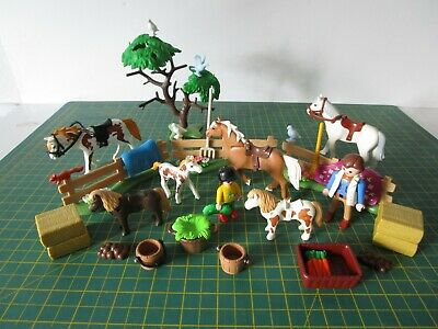 Playmobil Country Paddock With Horse's & Foals For FARM / STABLE Sets [LS] • 24.99£