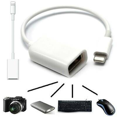 For 8Pin To USB Keyboard IPhone IPad4/Mini OTG Camera Connector Adapter Cable • 5.41£