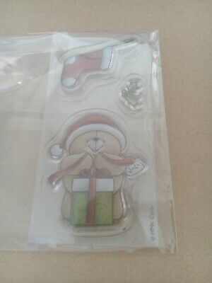 00145 Teddy Bear Christmas Clear Rubber Stamp Set • 2.19£
