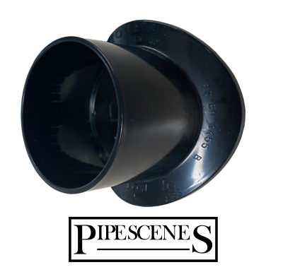 Black 110mm To 55mm Click In Boss Adapter Fitting - Waste Pipe To Soil Pipe • 7.85£